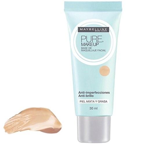 Base Líquida Maybelline Pure Makeup Bege Claro 30ml