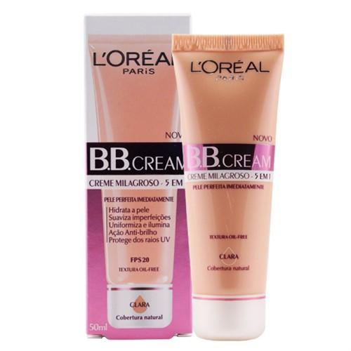Bb Cream Loréal Paris Fps 20 Cor Base Clara 5 em 1