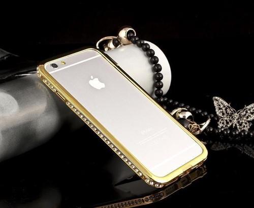 Bumper Strass Metal Case Capa Luxo Iphone 5 5s + Película