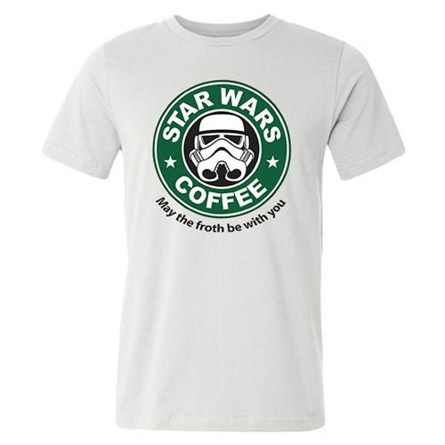 Camiseta Star Wars Coffe Divertida Starbucks - Masculina