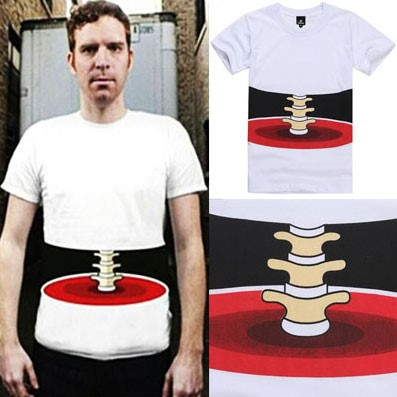 Camiseta Masculina Criativa Osso Transparente - Manga Curta