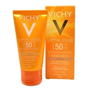 Capital Soleil Toque Seco Cor Fps50 Vichy 50g Protetor Solar