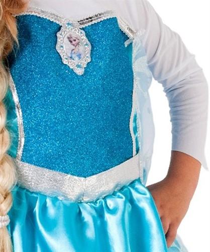 Fantasia Vestido Frozen Elsa Luxo Rubies - Original Disney