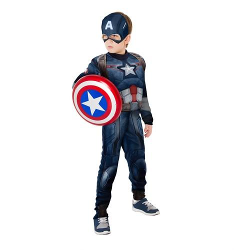 Fantasia Capitão América 2 Longa Infantil Com Escudo Rubies