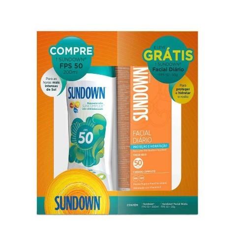 Kit Protetor Solar Sundown Fps 50 + Protetor Facial FPS 50
