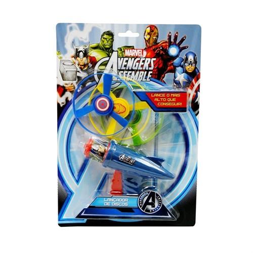 Kit Lança discos Vingadores - Original - Toyng Brinquedos