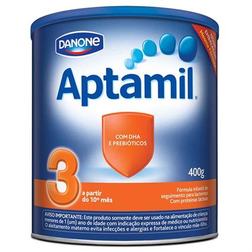 Leite Aptamil 3 400 Gramas Kit com 3 latas