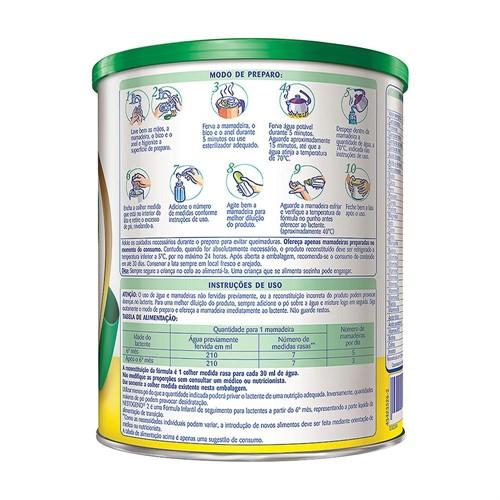 Leite Nestogeno 2 400g A partir do 6º mês Kit com 6 latas