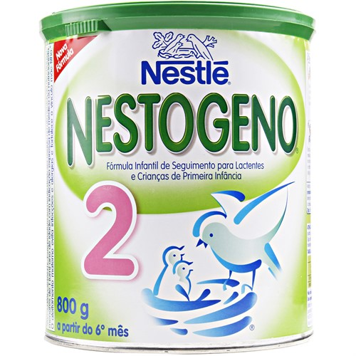 Leite Nestogeno 2 800g A partir do 6º mês Kit com 6 latas
