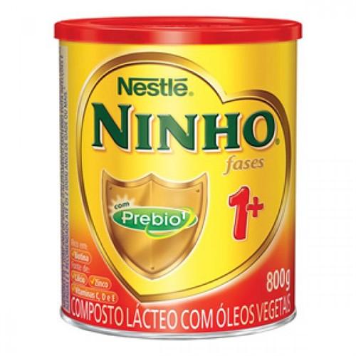 Leite Ninho Fases 1+ 800g Kit com 6 latas