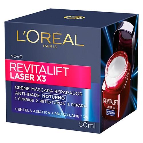 Loreal Revitalift Laser X3 Creme Noturno Anti-idade 50ml
