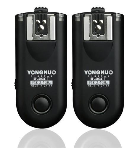 Rádio Flash Yongnuo Canon Rf-603c Ii C1 60d T2i T3 T1i 550d