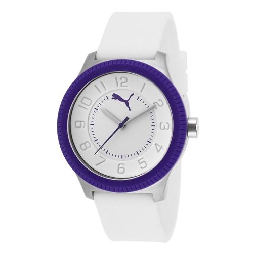 Relógio Puma Feminino Branco e Roxo - Modelo PU103692003
