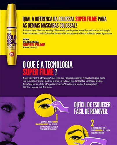 Rímel Maybelline Colossal Volum Express Super Filme Original
