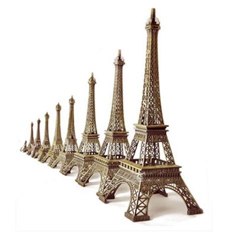 Torre Eiffel Em Miniatura Paris Souvenir Metal Bronze 18cm