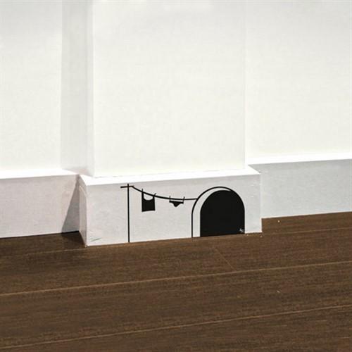 Adesivo de Parede Casinha de Rato Rodapé Criativo Divertido