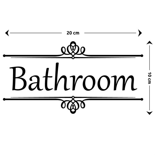 Adesivo de Porta de Banheiro Toilet Bathroom Vintage