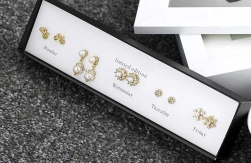 Box com 5 brincos exclusivos de luxo fashion - J. Crew
