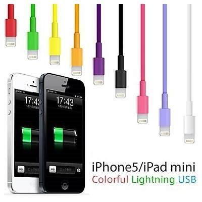 Cabo De Dados Colorido Usb 2.0 Iphone 5, 5s Ipad 5 (1m)