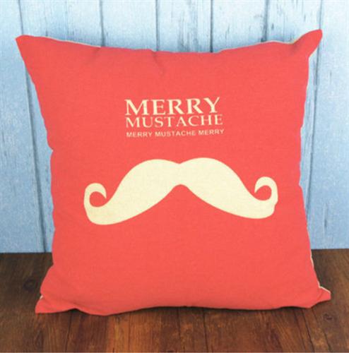 Capa de Almofada Merry Mustache - Puro Algodão