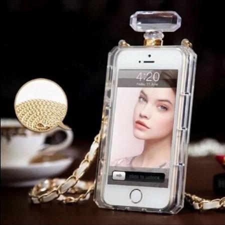 Capa Capinha Case Chanel Strass Luxo Iphone 6 + Película