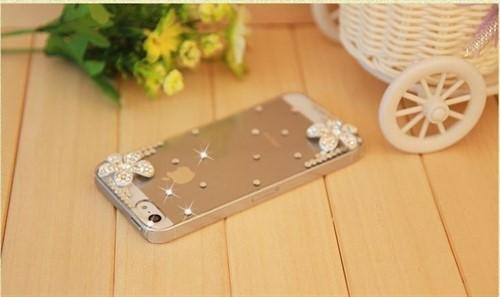 Capa Case Capinha Iphone 5 E 5s Luxo Strass Transparente 3d