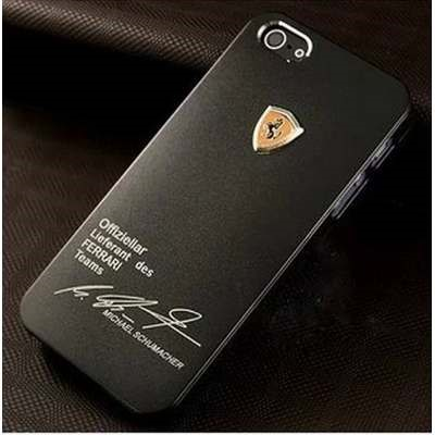 Capa Case Ferrari Schumacher Iphone 4 4G 4s - Preto