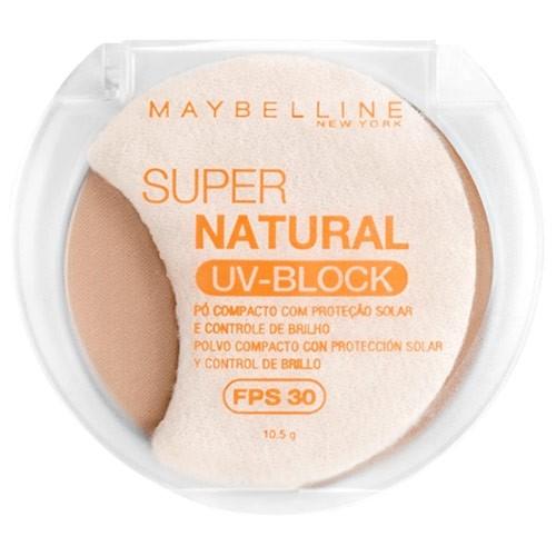 Maybelline Super Natural UV Block Pó Compacto FPS 30 Mel