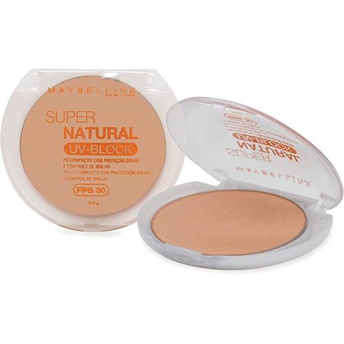 Maybelline Super Natural Uv Block Pó Compacto Fps 30 Natural