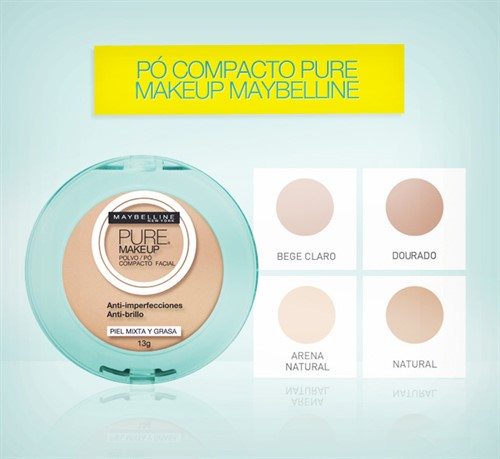 Maybelline Pure Makeup Pó Compacto 13g Arena Natural