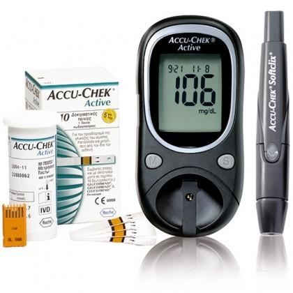Aparelho Accu-chek Active Medidor De Glicemia + 50 Tiras