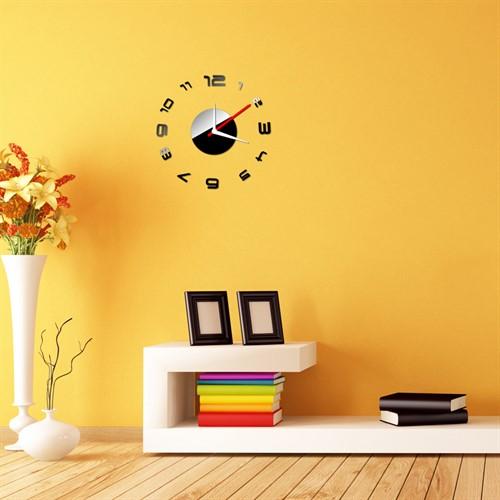 Relógio de Parede Criativo com Adesivo para Sala - Luxo