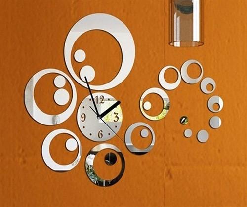 Relógio de Parede Mirror Decor - Kit 23 Peças