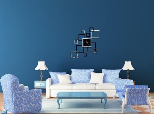 Relógio de Parede Luxo Criativo para Sala - 13 peças