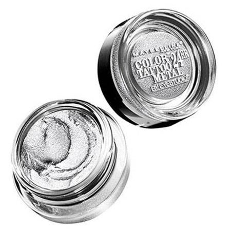 Sombra Color Tattoo Maybelline Metallics 24h Silver Stricke