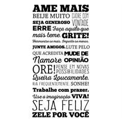 Adesivo De Parede Decorativo Frases Pensamentos 100x50cm