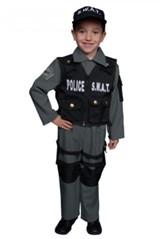 Fantasia Red Circus Policital Swat Azul