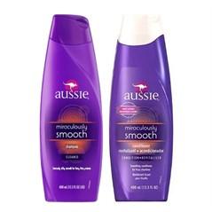 Shampoo + Condicionador Aussie Smooth Miraculously 400ml