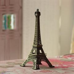 Torre Eiffel em Miniatura Paris Souvenir Metal Bronze 13cm