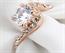 Anel de Cristal Lapidação Diamante Brilhante Banhado à Ouro