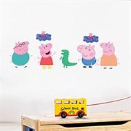 Adesivo de Parede Decorativo Infantil - Família Peppa Pig