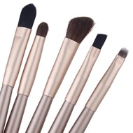Kit Maquiagem Sombra com 5 Pincéis Profissional + Case
