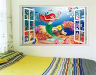 Adesivo de Parede Decorativo Infantil - Pequena Sereia