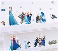 Adesivo Papel De Parede Frozen Vários Personagens