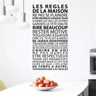 Adesivo de Parede Vinil - Regras da Casa em Francês