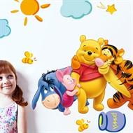 Adesivo Infantil Mural de Parede Ursinho Puff