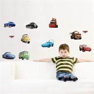 Adesivo Papel De Parede Carros Infantil Removível - 10 Pçs