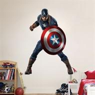 Adesivo Papel De Parede Capitão América Avengers Removível