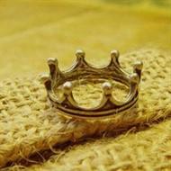 Anel Coroa Vintage Retrô - Feminino
