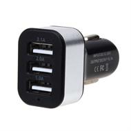 Carregador Veicular 3 Portas USB 4.1 Amperes